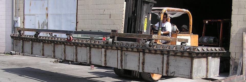 Forklift moving parts